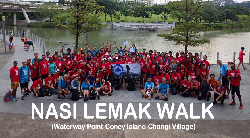 Nasi Lemak Walk (Waterway Point-Coney Island-Changi Village)
