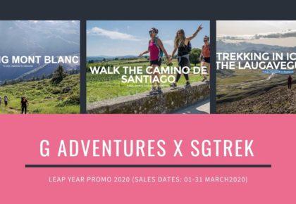 G Adventures X SGTREK – Leap Year Promo 2020